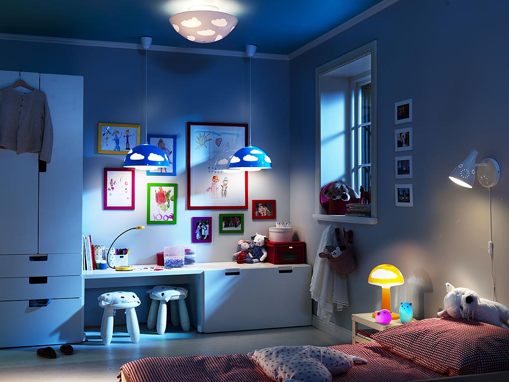 Детские комнаты в дизайне икеа
