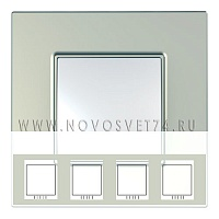 Рамка 4-я Титан MGU6.708.57 Unica Quadro Schneider Electric