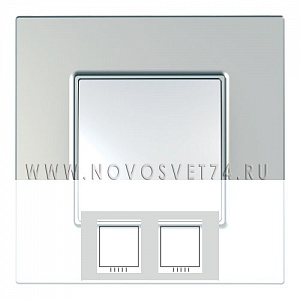 Рамка 2-я Серебро MGU6.704.55 Unica Quadro Schneider Electric