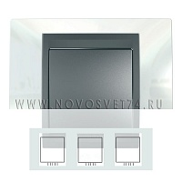 Рамка 3-я Нордик/Графит MGU66.006.292 Unica Top Schneider Electric