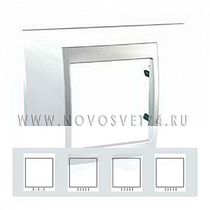 Рамка 4-я Нордик/Алюминий MGU66.008.092 Unica Top Schneider Electric