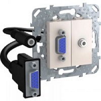 HD15+Minijack-коннектор Бежевый MGU5.932.25ZD Unica Schneider Electric