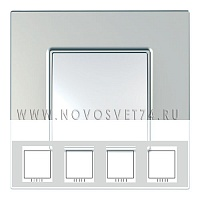 Рамка 4-я Серебро MGU6.708.55 Unica Quadro Schneider Electric