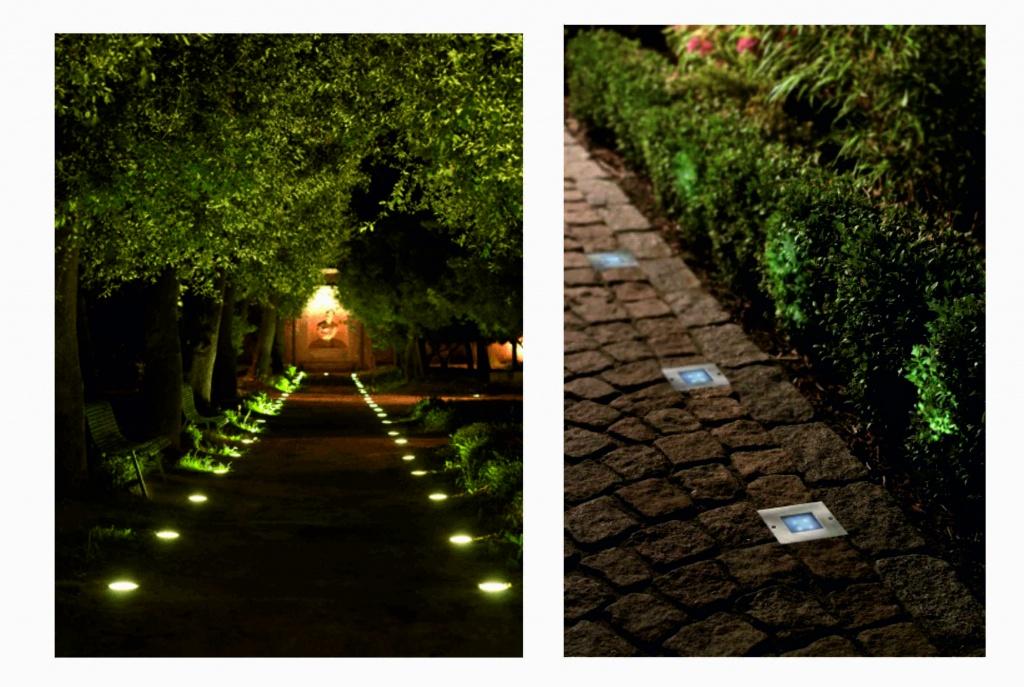 Встраиваемые уличные светильники: виды