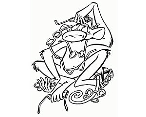 мартышка и очки басня картинка раскраска аквариум