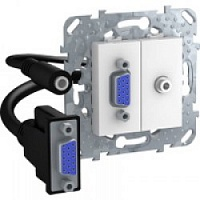 HD15+Minijack-коннектор Белый MGU5.932.18ZD Unica Schneider Electric