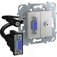 HD15+Minijack-коннектор Алюминий MGU5.932.30ZD Unica Schneider Electric