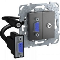 HD15+Minijack-коннектор Графит MGU5.932.12ZD Unica Schneider Electric